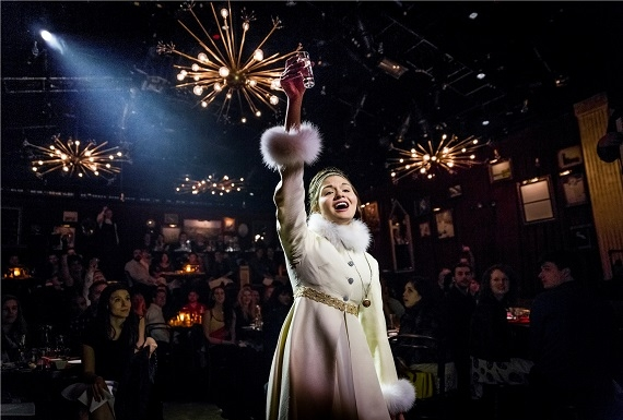 Phillipa Soo as Natasha in Dave Malloy's Natasha, Pierre & the Great Comet of 1812, which will now play through March 2 at Kazino.