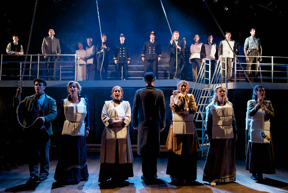 A scene from Thom Southerland's production of Maury Yeston and Peter Stone's musical Titanic at London's Southwark Playhouse.