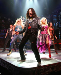 Constantine Maroulis and the original company of Rock of Ages.