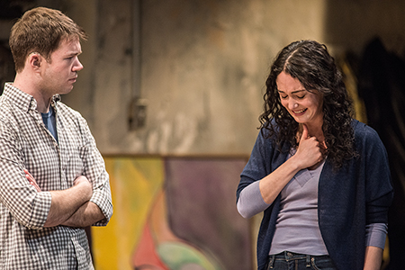 James Caverly and Helen Cespedes in Tribes at Washington, D.C.'s Studio Theatre.