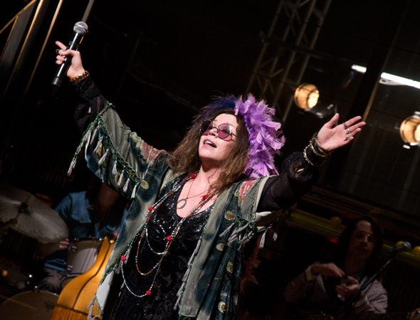 Mary Bridget Davies as Janis Joplin in the Broadway production of A Night With Janis Joplin at the Lyceum Theatre.