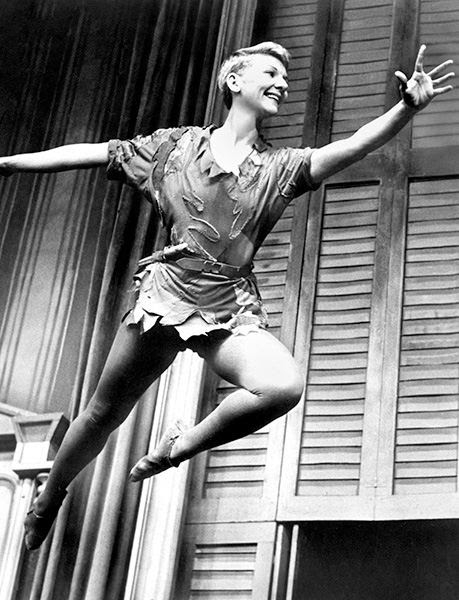 Mary Martin played the role of Peter in the original Broadway cast of the musical Peter Pan.