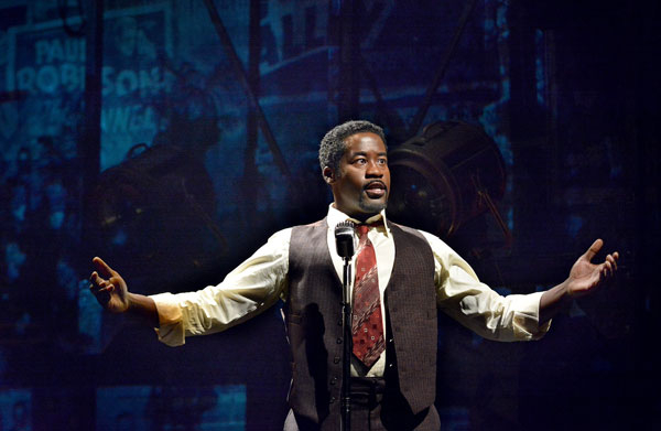 Daniel Beaty portrays African-American performer and activist Paul Robeson in The Tallest Tree in the Forest at Washington, D.C.'s Arena Stage.