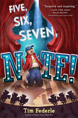 Cover art for Tim Federle's Five, Six, Seven, Nate!