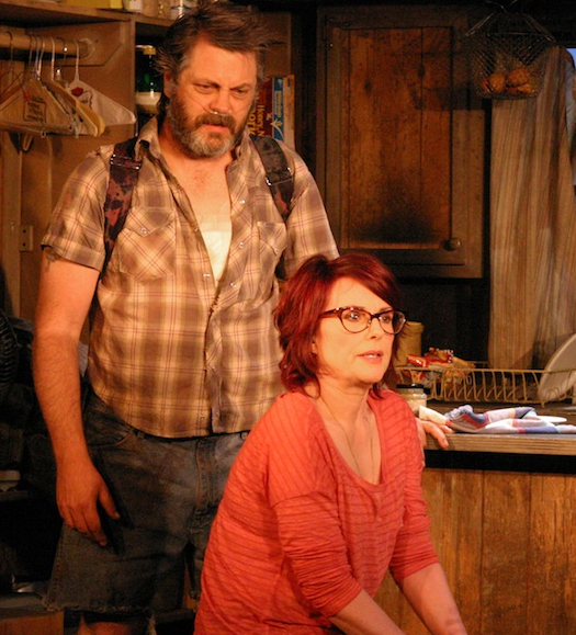 Nick Offerman and Megan Mullally will star in the New Group's spring production of Sharr White's Annapurna and also will host the 29th annual Lucille Lortel Awards.