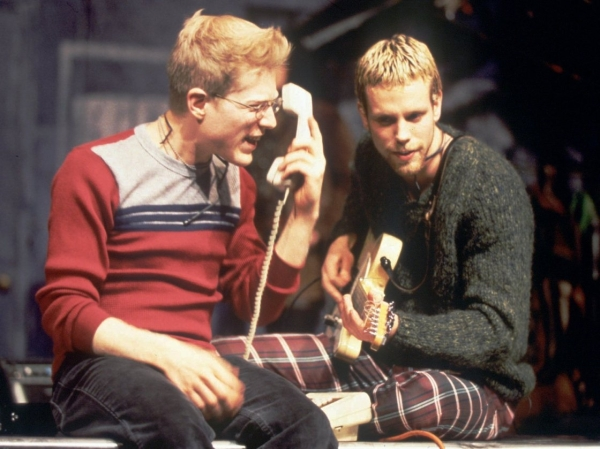Anthony Rapp and Adam Pascal in the original production of Rent.