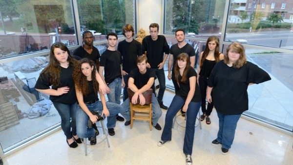 The company of The Laramie Project at the University of Mississippi.