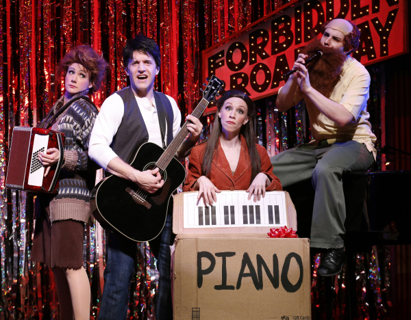 Natalie Charlé Ellis, Scott Richard Foster, Lindsay Nicole Chambers, and Marcus Stevens take on the musical Once in the 2013 edition of Forbidden Broadway.