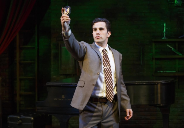 Brett Ryback stars as Marcus in off-Broadway's Murder for Two, directed by Scott Schwartz, at New World Stages.