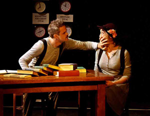 Connor Kalista and Cara Francis in The Complete & Condensed Stage Directions of Eugene O'Neill, Volume 1 in 2011 at the Kraine Theater.
