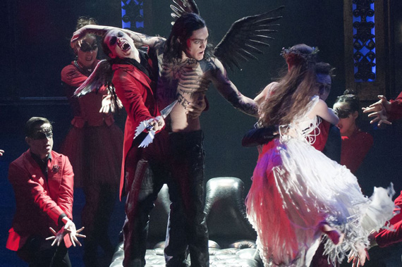 A dance of the vampires in Matthew Bourne's Sleeping Beauty.