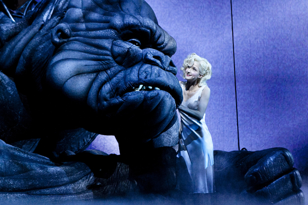 A scene from the Melbourne stage production of King Kong.