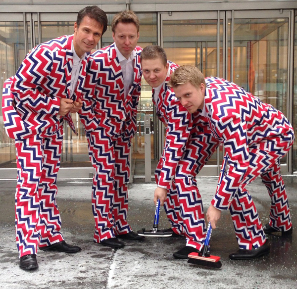 The American Theatre Wing should give Loudmouth Golf a Tony Award for their costuming of the Norwegian curling team.
