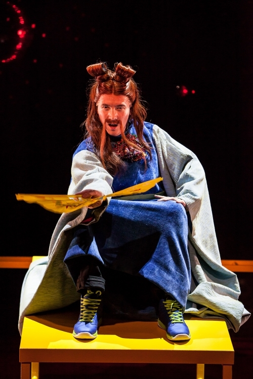 Matthew Gunn Park plays The Great Prognosticator in The Wong Kids in the Secret of the Space Chupacabra Go!, directed by Ralph B. Peña with Jack Tamburri, at off-Broadway's La MaMa E.T.C. Ellen Stewart Theatre.