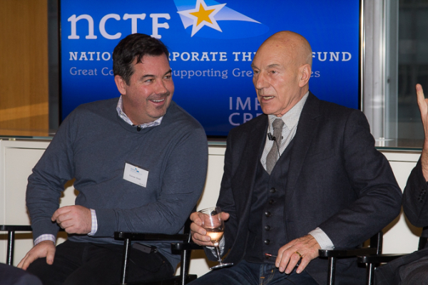Tony-winning composer Duncan Sheik joins ''Waiting For Godot/No Man's Land star Sir Patrick Stewart on the NCTF Broadway Roundtable panel.