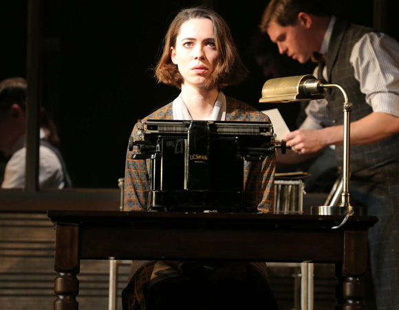 "Rebecca Hall makes her Broadway debut as ""Young Woman"" in Sophie Treadwell's Machinal, directed by Lyndsey Turner, at the American Airlines Theatre."