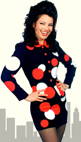 Fran Drescher as Fran Fine in TV's The Nanny.