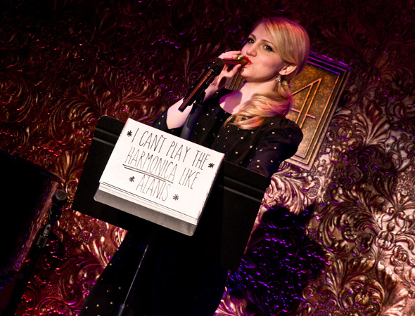 Annaleigh Ashford plays a kazoo at 54 Below, not a harmonica.