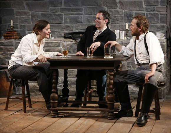 Rosie Benton, Erik Lochtefeld, and PJ Sosko star as a trio of Civil War reenactors in Jessica Dickey's Row After Row, a production of The Women's Project, directed by Daniella Topol.