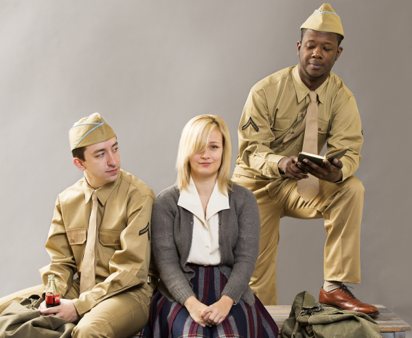 James Gardiner, Erin Driscoll, and Kevin McAllister in the musical Violet, directed by Jeff Calhoun at Washington, D.C.'s Ford's Theatre.