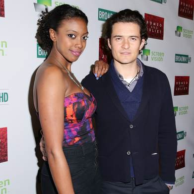 Condola Rashad and Orlando Bloom starred in the Broadway revival of Shakespeare's Romeo and Juliet, directed by David Leveaux, at the Richard Rodgers Theatre.