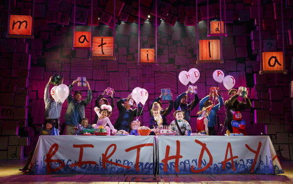 The Broadway cast of Matilda the Musical at the Shubert Theatre.