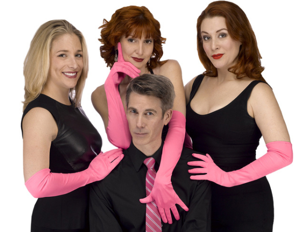 Dana Wilson, Erin Maguire, Gretchen Wylder, and John Thomas star in Ruthe Ponturo's Til Divorce Do Us Part: The Musical at DR2 Theatre.