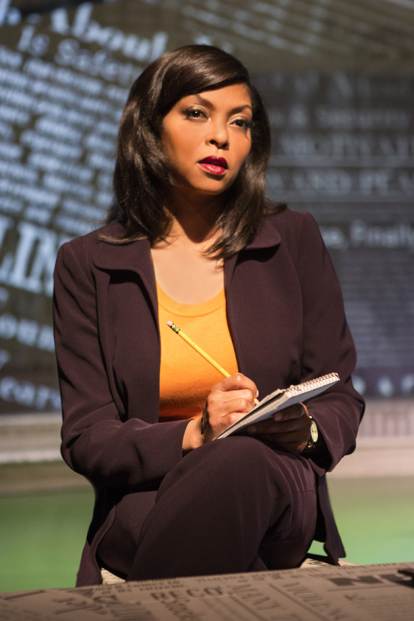Taraji P. Henson as Jane in Bernard Weinraub's Above the Fold, directed by Steven Robman, at California's Pasadena Playhouse.