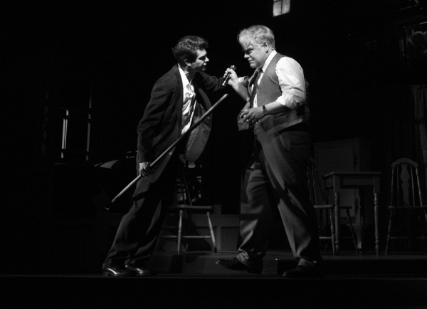 Andrew Garfield and Philip Seymour Hoffman in the 2012 Broadway revival of Death of a Salesman.