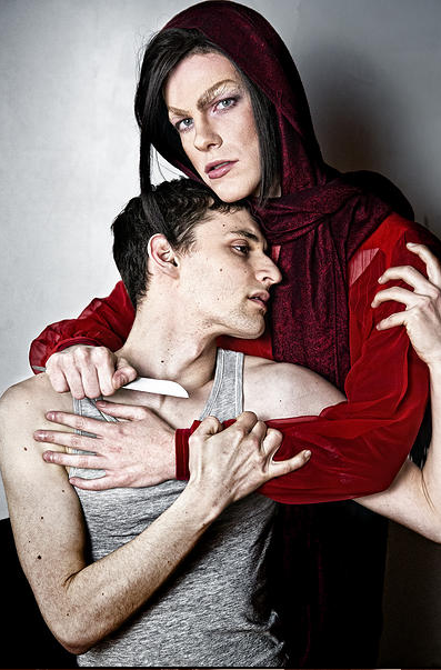 Jake Lasser and Chris Tyler in the Femme Fatale Theater production of Oscar Wilde's Vera; Or, The Nihilists.