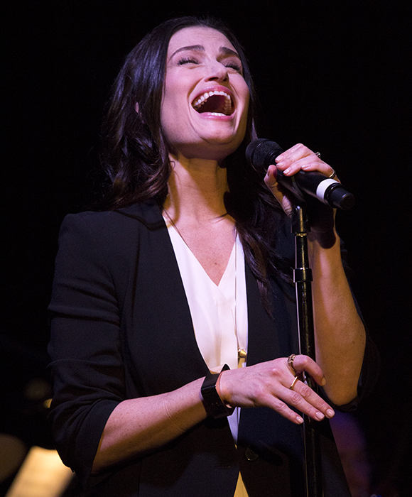 Idina Menzel takes the stage of The Cutting Room to offer a preview of the new musical If/Then.