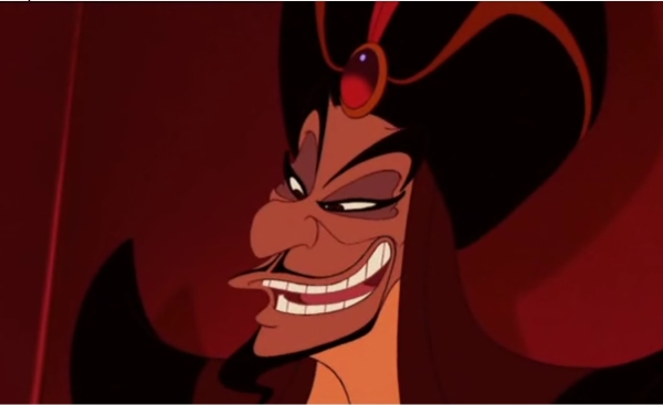 Jafar, as voiced by Jonathan Freeman, in the Disney animated film Aladdin.