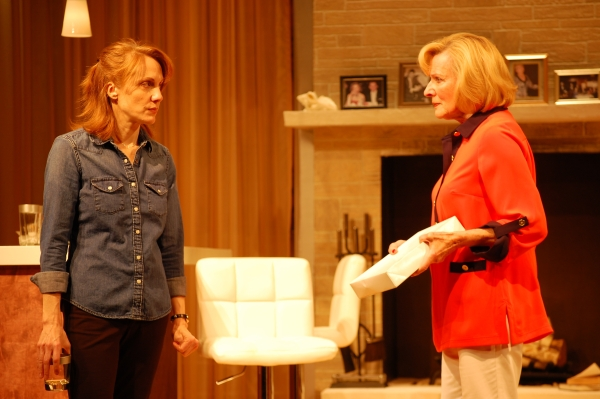 Nancy Lemenager as Brooke Wyeth and Joy Franz as Polly Wyeth in Jon Robin Baitz's Other Desert Cities, directed by Richard Dolce, at the John W. Engeman Theater at Northport.
