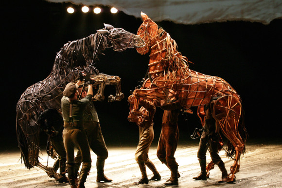 Image from the original West End production of War Horse at the National Theatre.