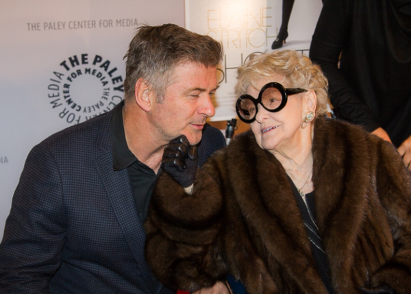 Elaine Stritch with her 30 Rock son, Alec Baldwin.