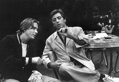 James Hayden (left) with Al Pacino in the 1983 Broadway revival of David Mamet's American Buffalo.