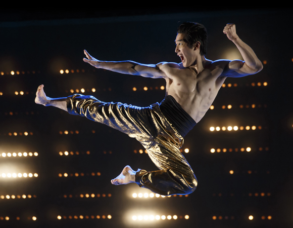 Cole Horibe stars as martial arts legend Bruce Lee in David Henry Hwang's Kung Fu, a production of Signature Theatre directed by Leigh Silverman.