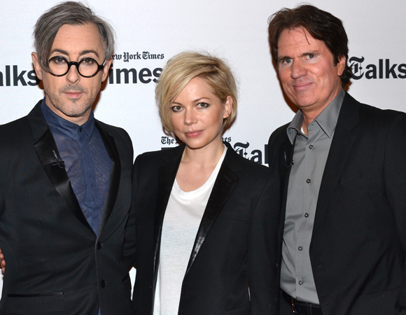 Cabaret stars Alan Cumming and Michelle Williams, joined by their codirector Rob Marshall, talked about the musical revival at a discussion on February 24.