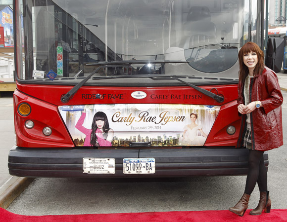 Carly Rae Jepsen is the newest inductee into the coveted Ride of Fame.