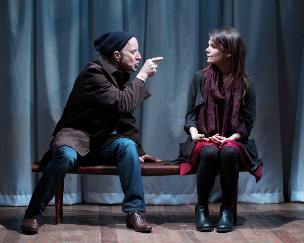 Arliss Howard as Bill and Kathryn Erbe as Adele in Ode to Joy, written and directed by Craig Lucas, at the Cherry Lane Theatre.