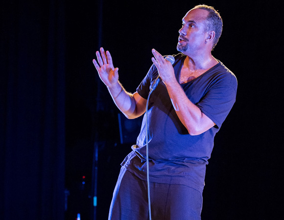 Roger Guenveur Smith performing Rodney King at L.A.'s Center Theatre Group. Smith will bring his one-man show to Woolly Mammoth Theatre Company this summer.