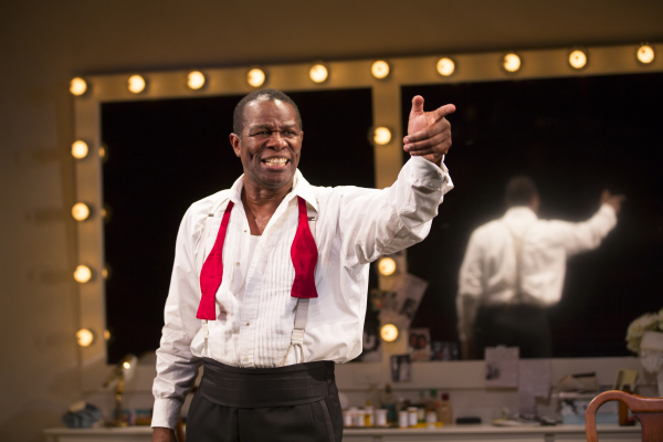 John Douglas Thompson as Louis Armstrong in Satchmo at the Waldorf, directed by Gordon Edelstein, at the Westside Theatre.