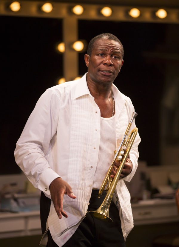 John Douglas Thompson plays three characters in the one-man show Satchmo at the Waldorf.