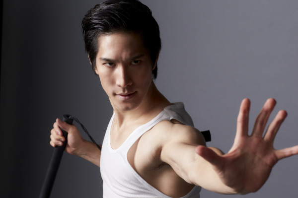 Cole Horibe stars as Bruce Lee in David Henry Hwang's Kung Fu, directed by Leigh Silverman, at Signature Theatre.