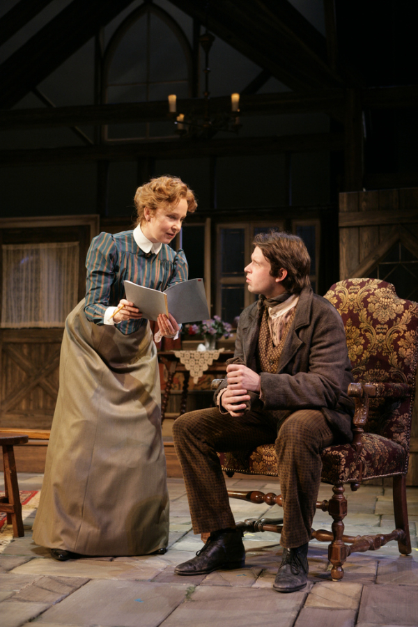 Burton with her son Morgan Ritchie in the Huntington's 2009 production of The Corn is Green.