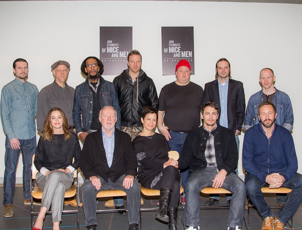 Of mice and men cast james franco chris o dowd leighton meester and