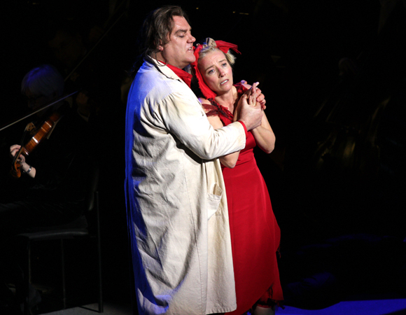 Bryn Terfel and Emma Thompson star in the New York Philharmonic concert presentation of Stephen Sondheim's Sweeney Todd, directed by Lonny Price at Avery Fisher Hall.