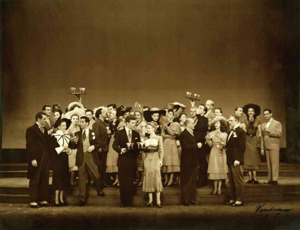 The 1947 cast of Rodgers & Hammerstein's Allegro.