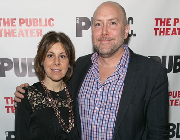 Public Theater Board Chair Arielle Tepper Madover and Public Theater Executive Director Patrick Willingham attend the opening-night festivities.