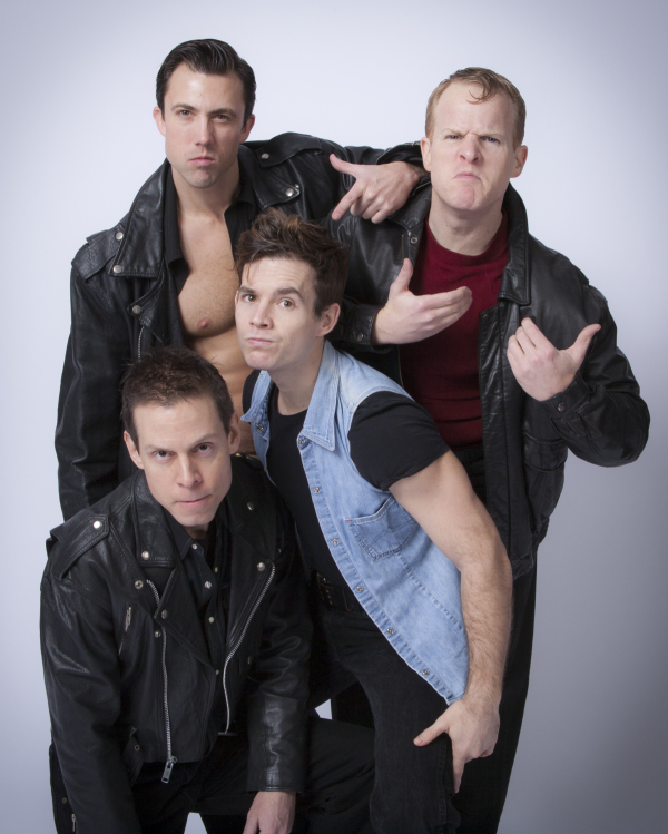 The bad boys of Andy Halliday's Nothing But Trash. Clockwise, from top: Steven Wenslawski as Falcon, Andrew Glaszek as Switchblade, David Errico Jr. as Angel, and Tim Burke as Sledge.